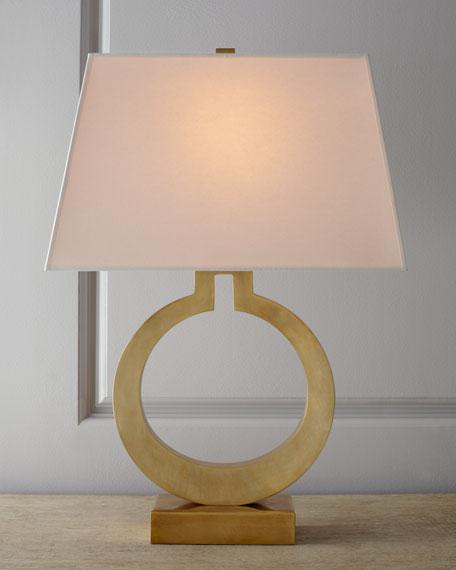 Visual Comfort Brass Ring Lamp