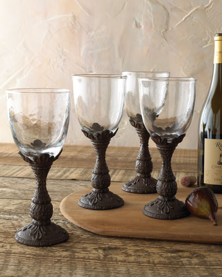 G G Collection Four Wine Glasses