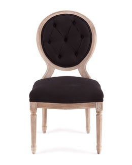 Black Linen Dining Chairs