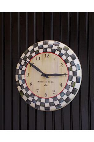 MacKenzie-Childs Courtly Check Clock