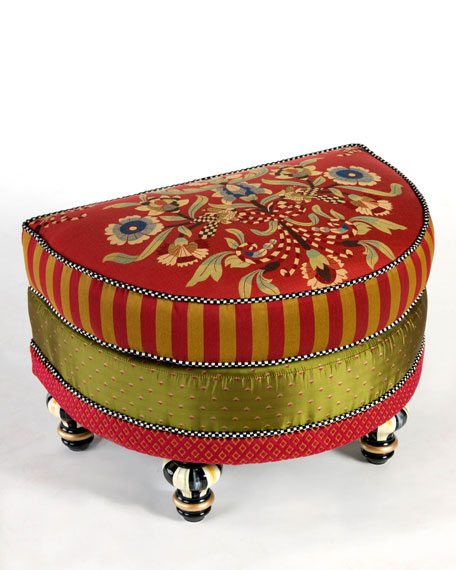 Red Harlequin Ottoman