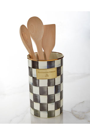 MacKenzie-Childs Courtly Check Utensil Holder