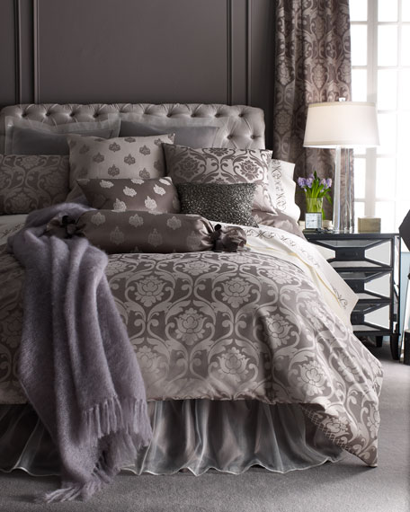 Fino Lino Linen & Lace Queen Charleston Damask