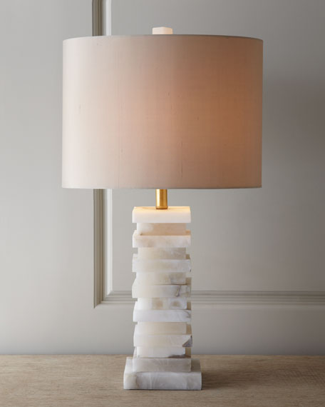 John-Richard Collection Stacked Alabaster Lamp