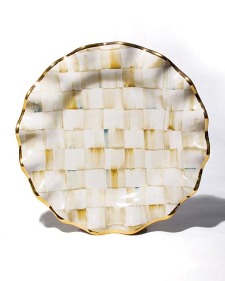 MacKenzie-Childs Parchment Check Dessert Plate