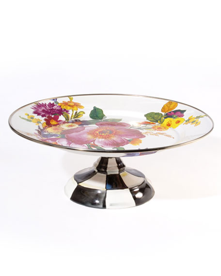 MacKenzie-Childs Flower Market Pedestal Platters & Matching Items