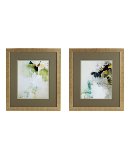 "Two ""Overjoyed"" Abstract Giclees"