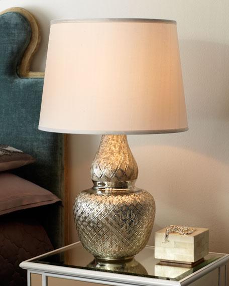"""""""Harlequin"""" Gourd Lamp"""