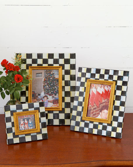 MacKenzie-Childs Small Courtly Check Photo Frame