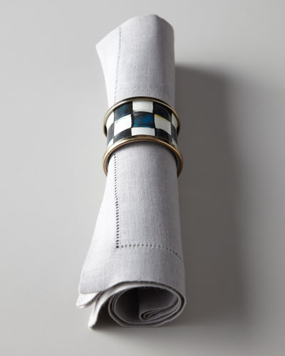 Four Courtly Check Napkin Rings