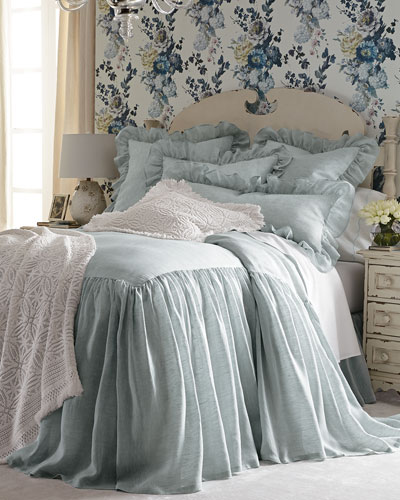 King Savannah Skirted Coverlet, 80