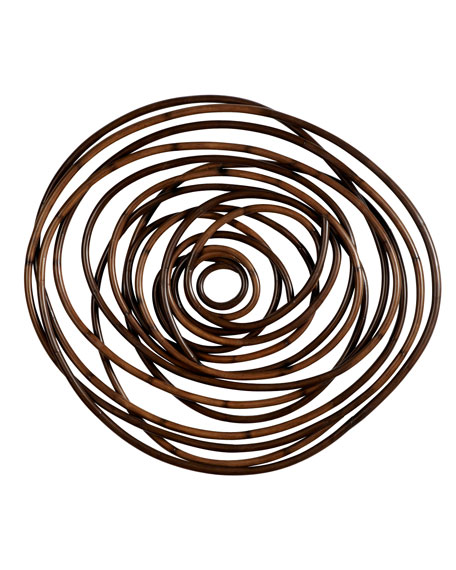 Image 2 of 2: Palecek Wood Swirl Wall Decor