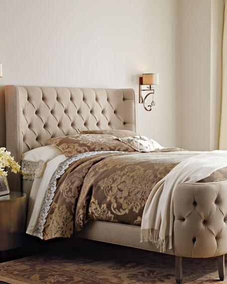 Haute House Linen Larkspur Queen Bed