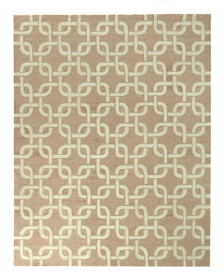 "Chain-Link Rug, 8'3"" x 11'6"""