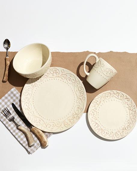 16-Piece Scroll Dinnerware Service