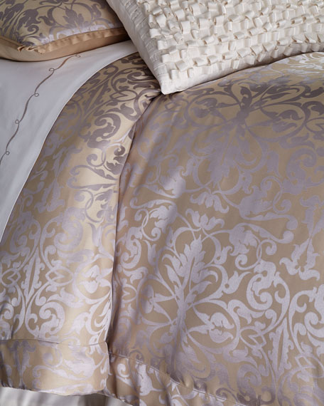 Queen Jackie Jacquard Duvet Cover