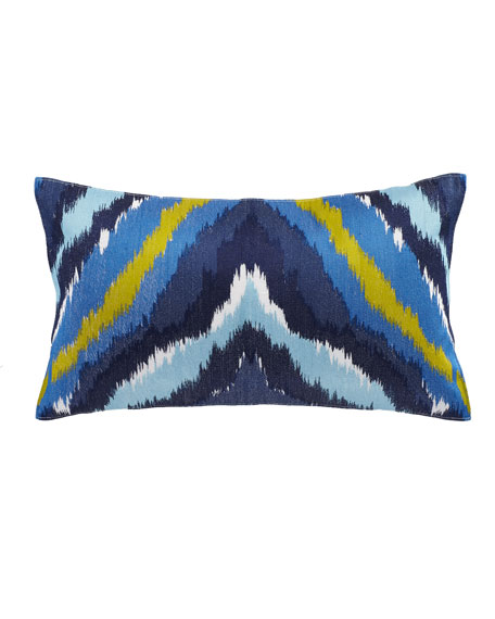 Trina Turk Turquoise Trellis Pillow with Embroidery, 20