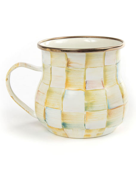 MacKenzie-Childs Parchment Check Mug