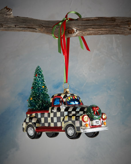 Courtly Check Truck Christmas Ornament