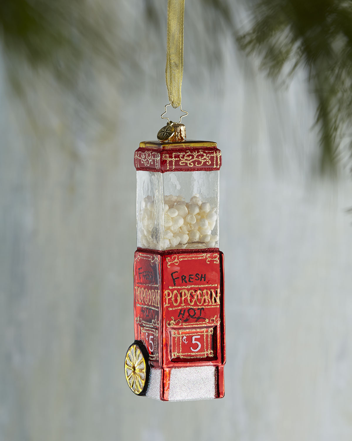 Christopher Radko Popcorn Christmas Ornament
