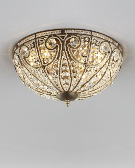 Small Elizabethan Flush-Mount Ceiling Light