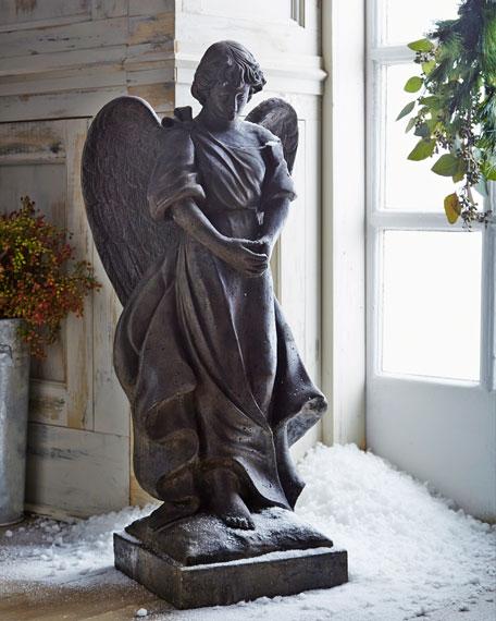 Rustic Stone Angel Statue