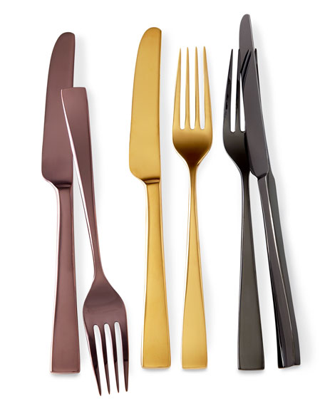 "Five-Piece ""Argento Gold Luster"" Flatware Place Setting"