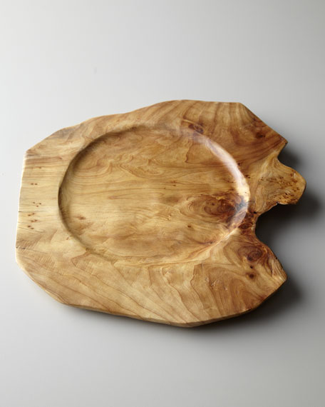 \ Root\  Wood Charger Plate & Root\