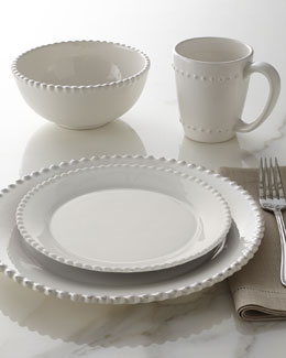 "16-Piece ""Bianca"" Beaded-Edge Dinnerware"