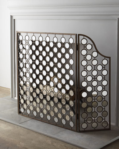 Mirrored Fireplace Screen