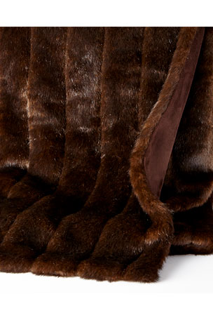 Fabulous Furs Sable Faux-Fur Throw