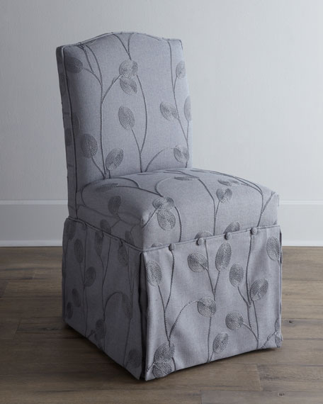 """Karina Silver"" Vanity Chair"