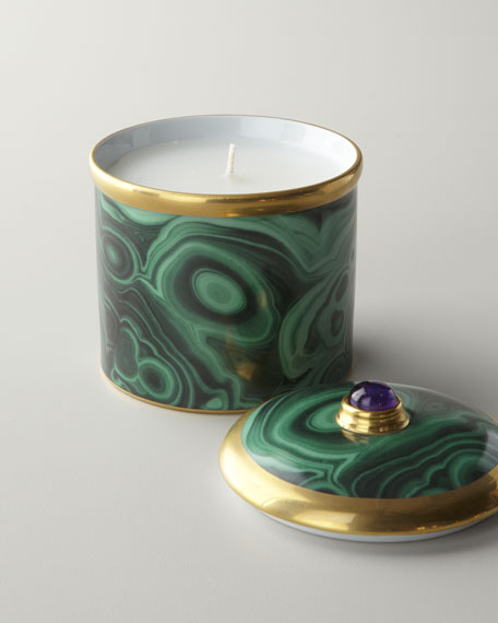 """Malachite"" Lidded Candle"
