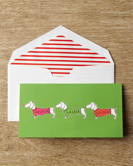 "10 ""Singing Dachshunds"" Christmas Cards"