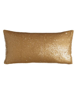 "Donna Karan Home ""Shimmering Light"" 11"" x 22"" Pillow, Gold Leaf"