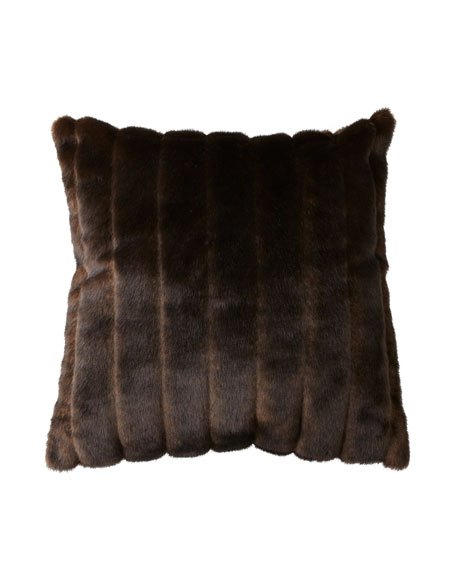 Sable Faux-Fur Accent Pillow