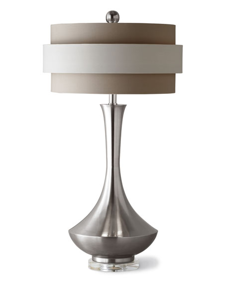 john richard collection neutral orbit shade table lamp