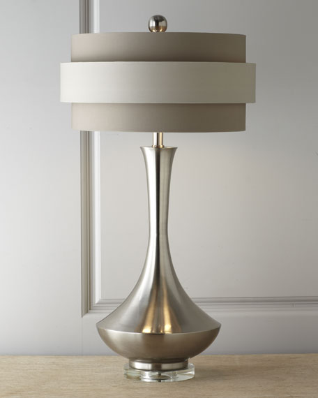 John-Richard Collection Neutral Orbit-Shade Table Lamp