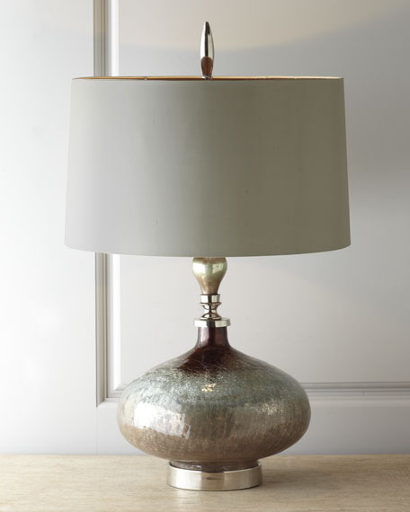 John richard collection rainwater on glass table lamp neiman marcus