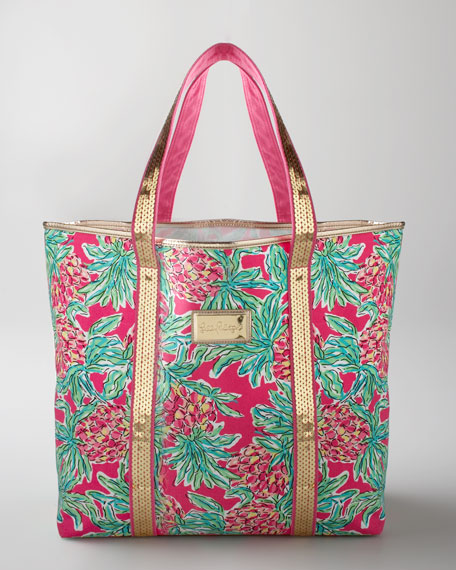 "Pink ""Spike Punch"" Tote"