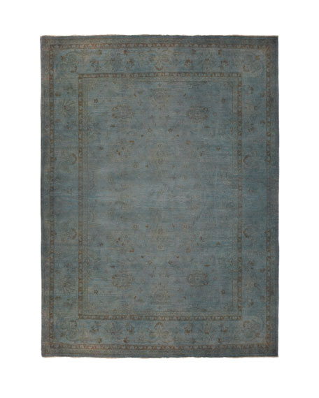 Madras Dyed Rug, 6' x 9'