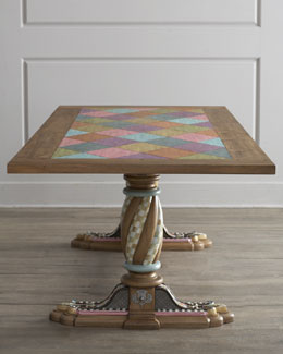 "MacKenzie-Childs ""Aurora"" Trestle Table"