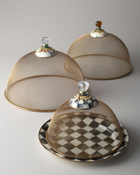 MacKenzie-Childs Small Courtly Check Mesh Dome