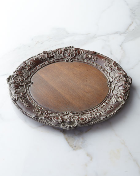 Baroque Wood Charger Plate
