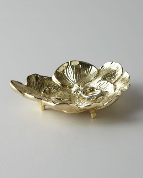 GOLD ORCHID MINI DISH
