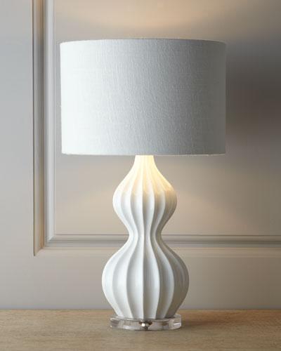 """White """"Peanut"""" Lamp"""