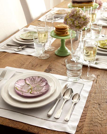 Four floral dessert canape plates - Canape original colore ...
