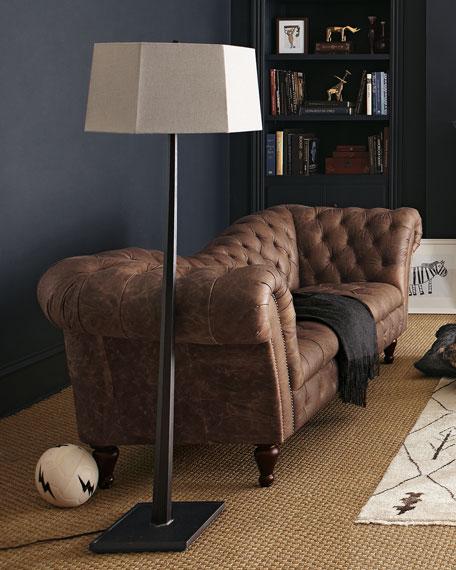 Ebony Wooden Floor Lamp