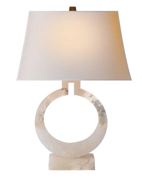 Alabaster Circle Lamp