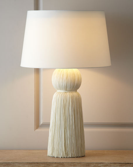 """Ivory """"Tassel"""" Table Lamp"""